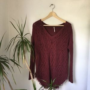 Free People Oversized Knitted Sweater/Tunic